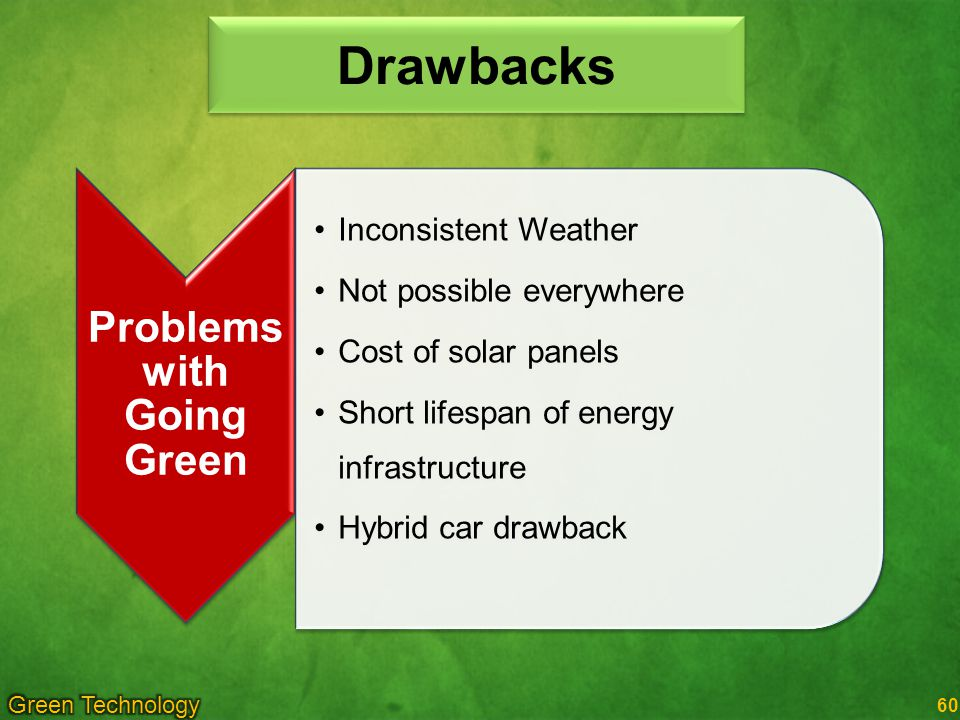 Problems with Going Green
