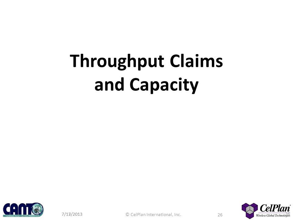 Throughput Claims and Capacity