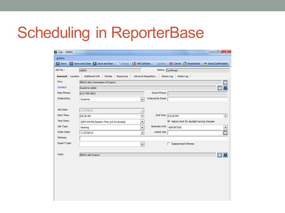 Scheduling in ReporterBase