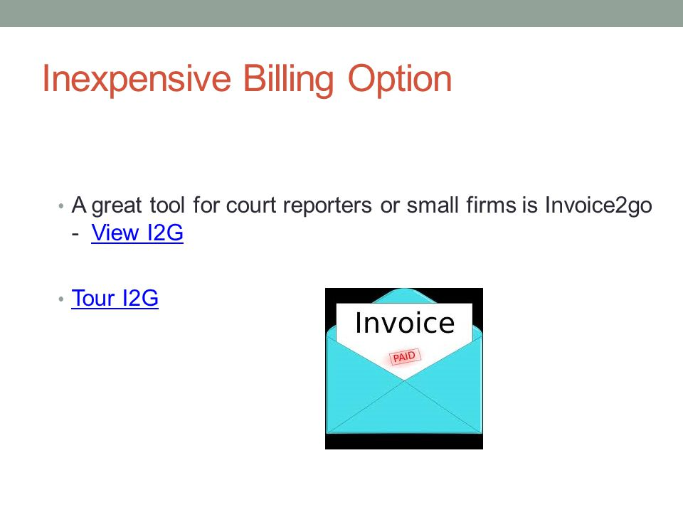 Inexpensive Billing Option