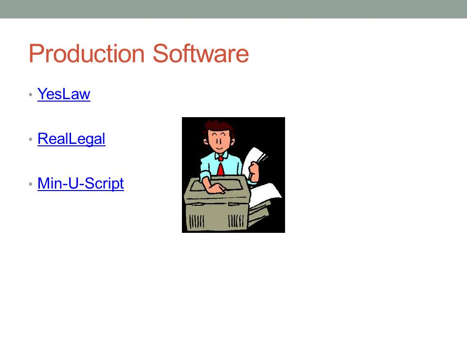 Production Software YesLaw RealLegal Min-U-Script