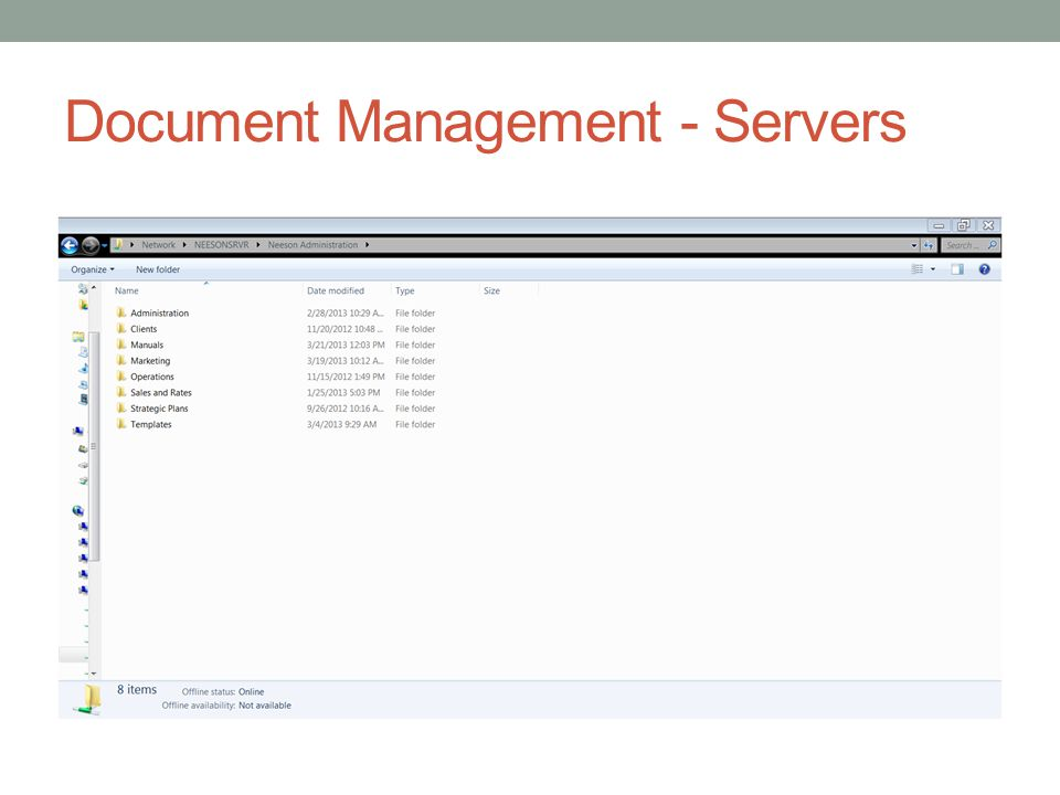Document Management - Servers