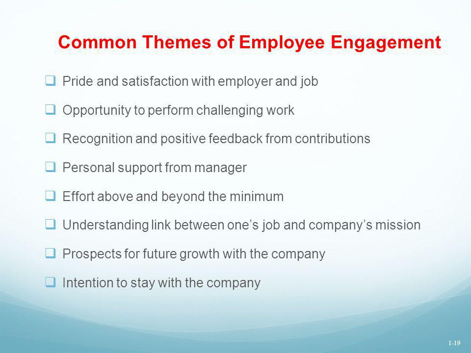 Common Themes of Employee Engagement
