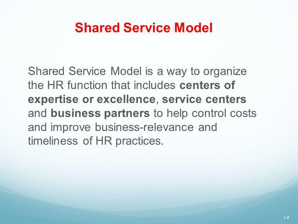 Shared Service Model