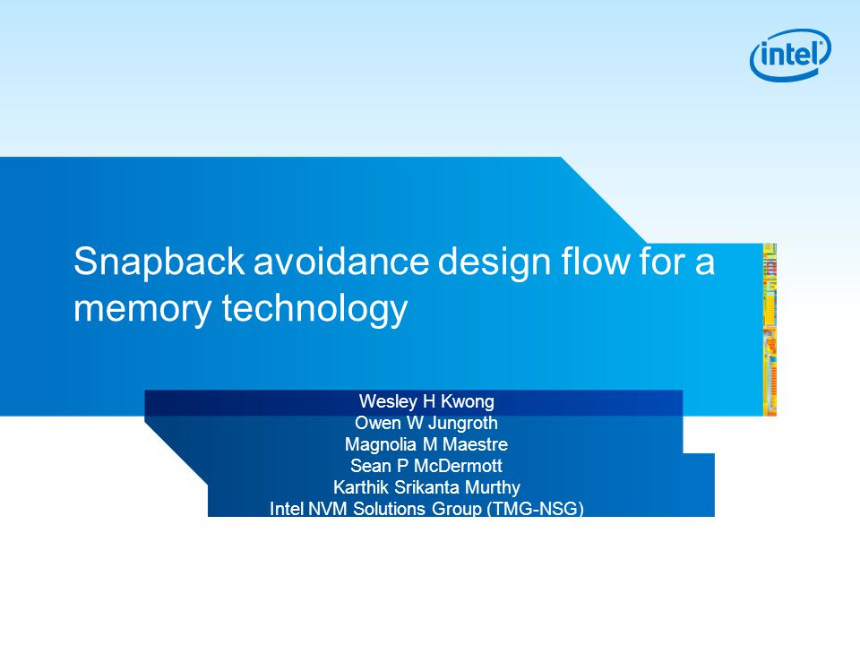 Snapback avoidance design flow for a memory technology