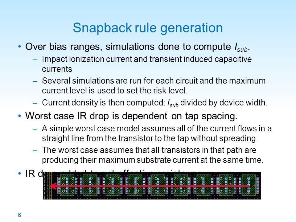 Snapback rule generation