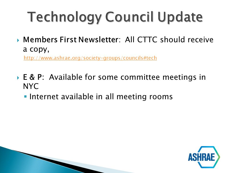 Technology Council Update