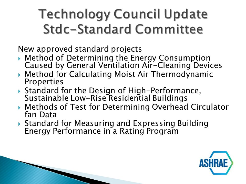 Technology Council Update Stdc-Standard Committee