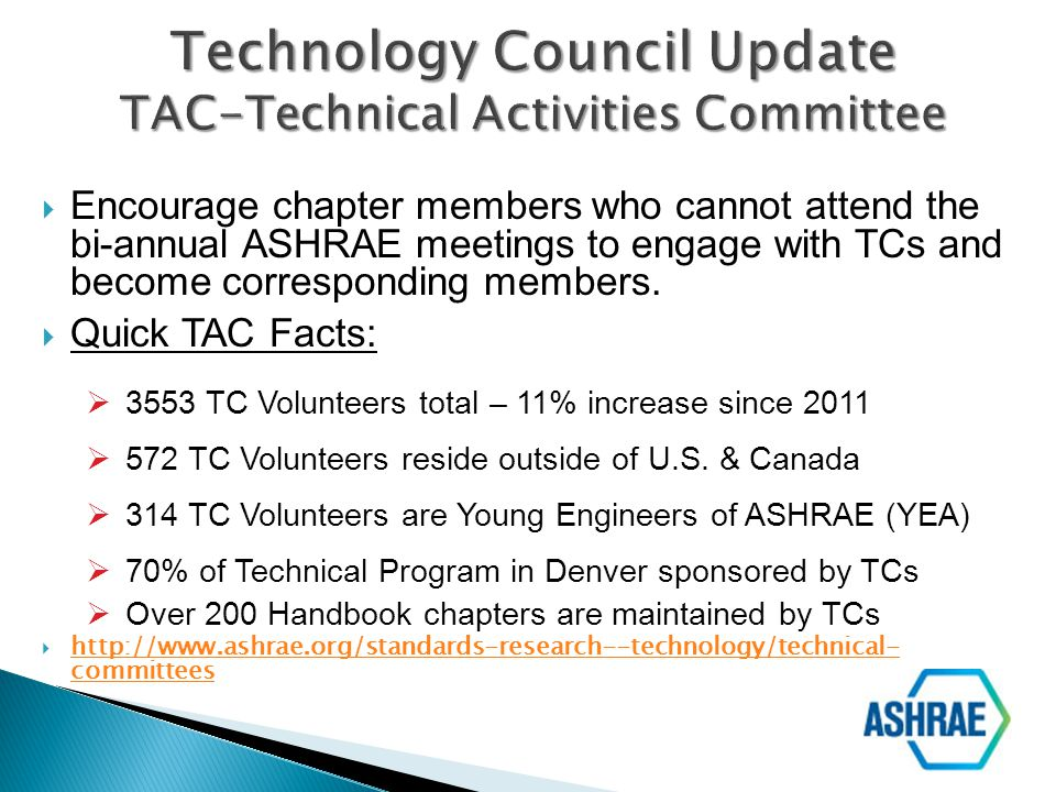 Technology Council Update TAC-Technical Activities Committee