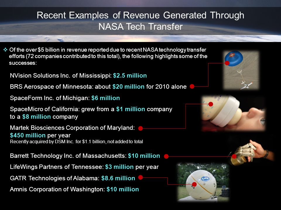 Recent Examples of Revenue Generated Through