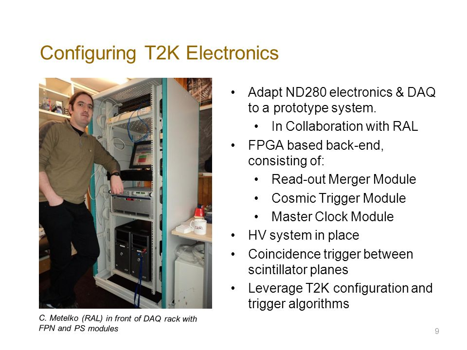 Configuring T2K Electronics