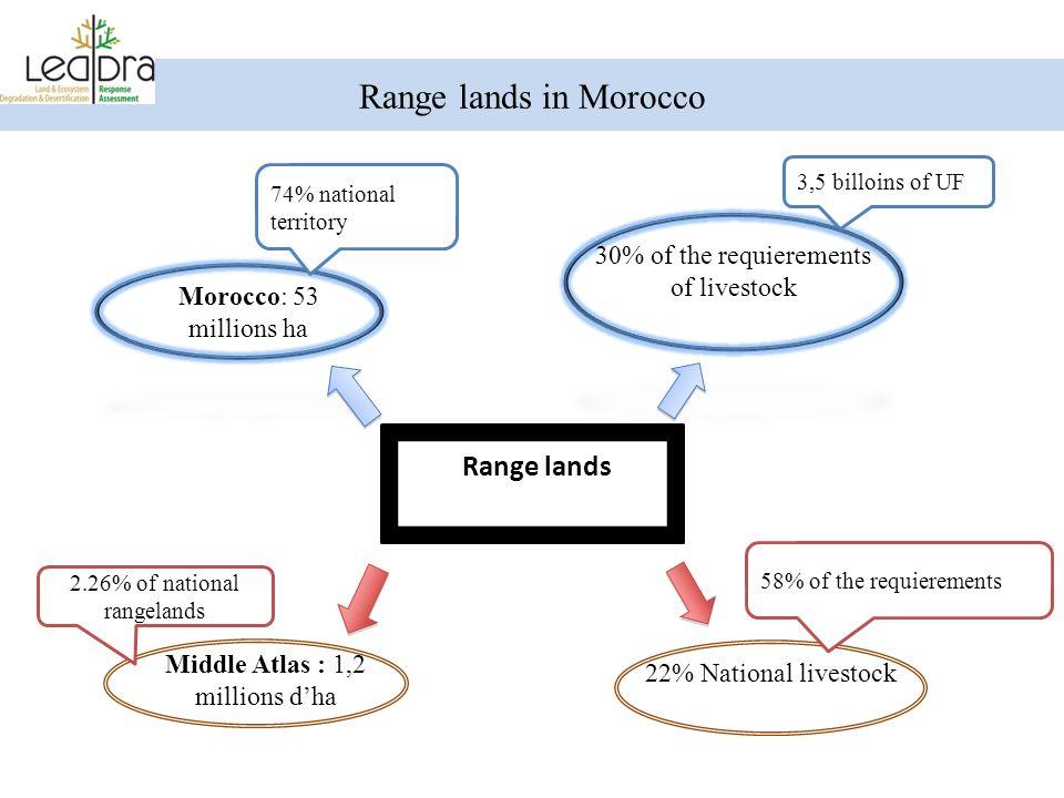 Range lands in Morocco Range lands