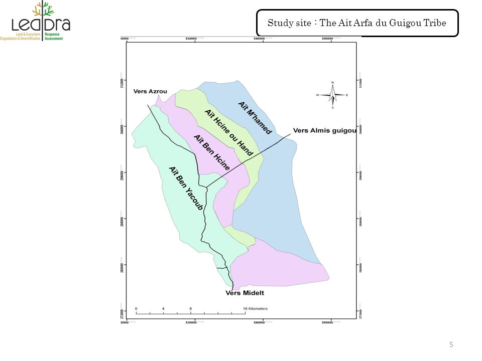 Study site : The Ait Arfa du Guigou Tribe