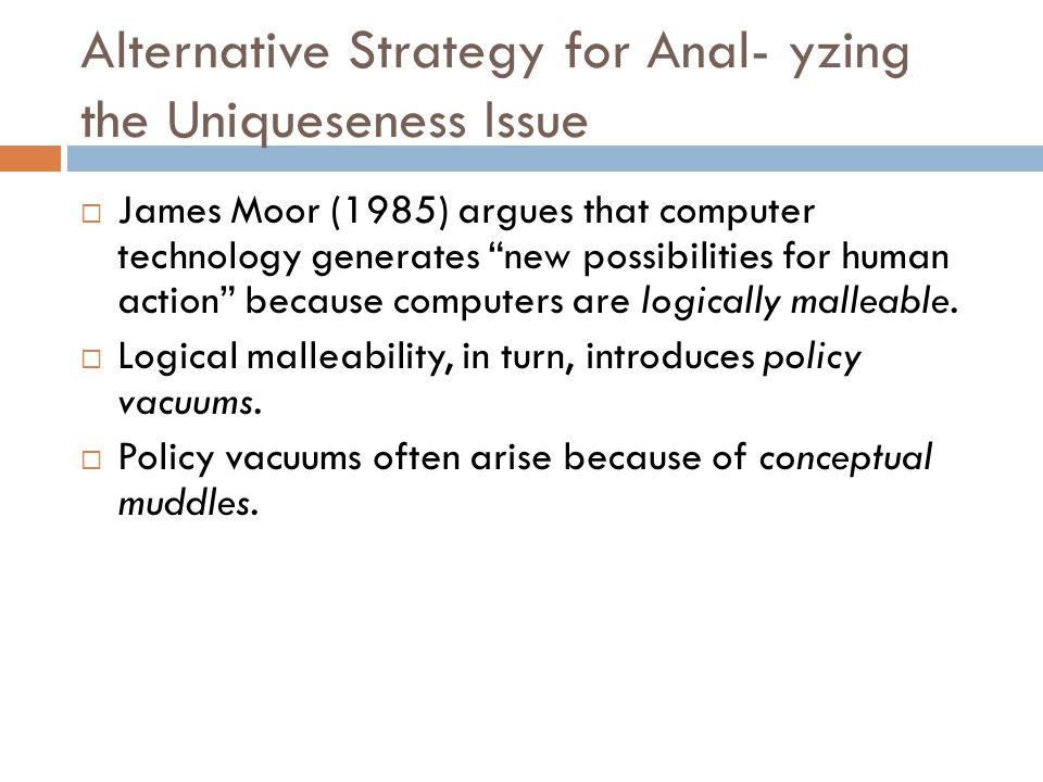 Alternative Strategy for Anal- yzing the Uniqueseness Issue