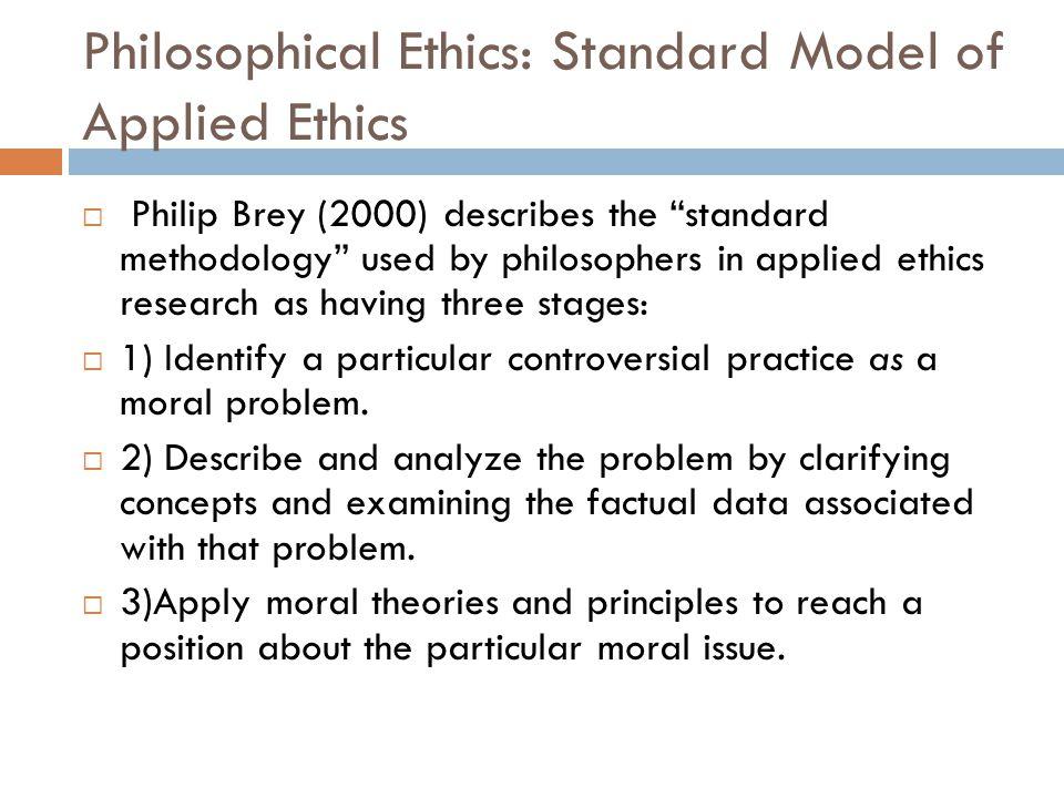 Philosophical Ethics: Standard Model of Applied Ethics