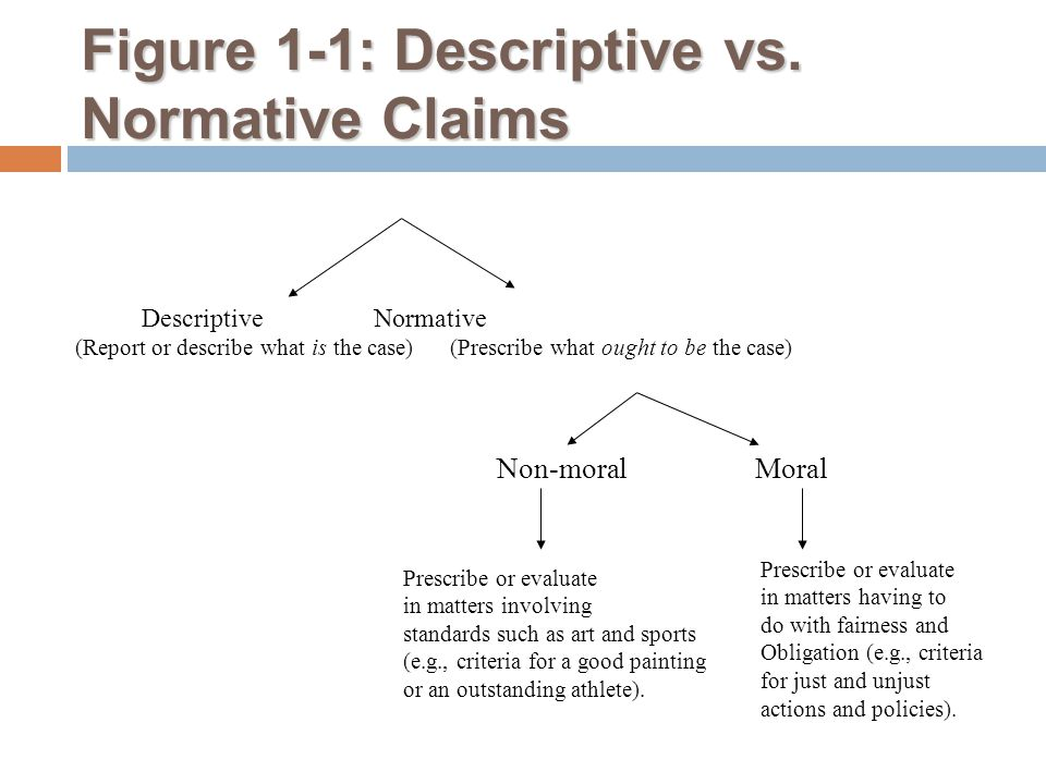 Figure 1-1: Descriptive vs. Normative Claims