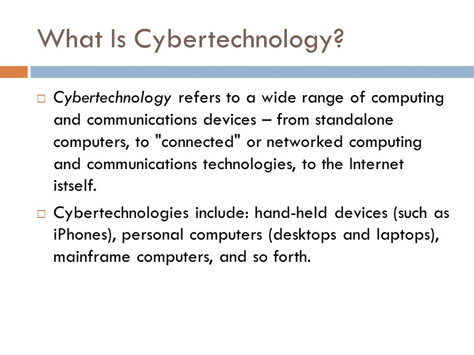 What Is Cybertechnology