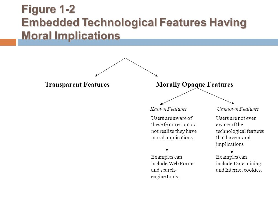 Figure 1-2 Embedded Technological Features Having Moral Implications