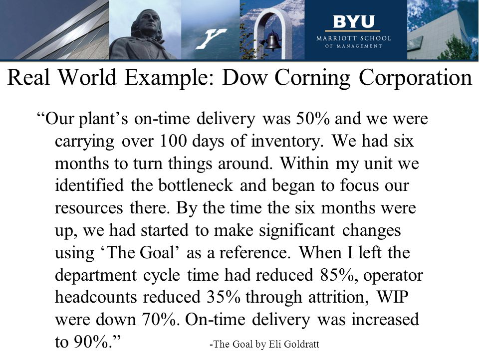 Real World Example: Dow Corning Corporation