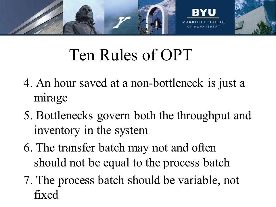 Ten Rules of OPT