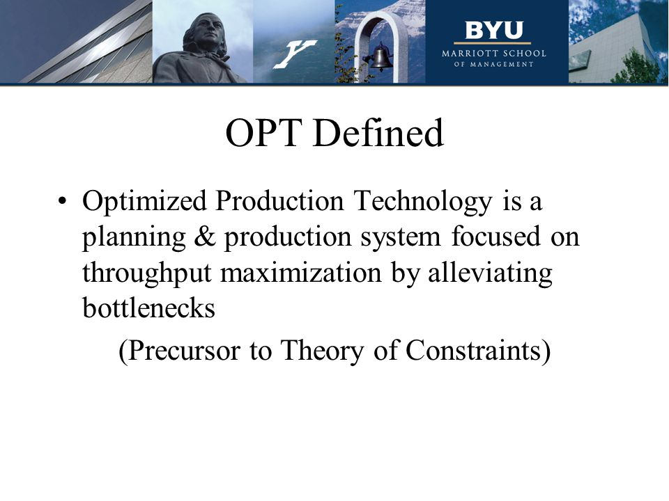 (Precursor to Theory of Constraints)