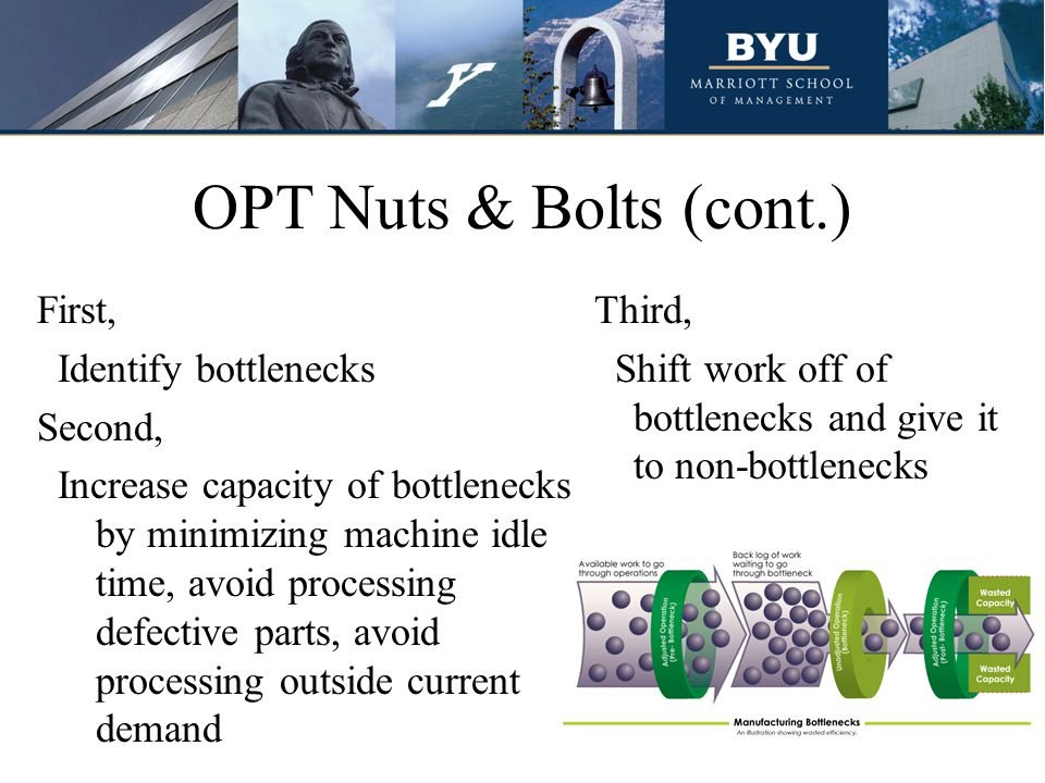 OPT Nuts & Bolts (cont.)