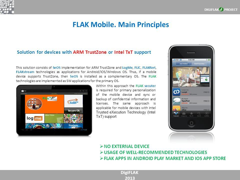 FLAK Mobile. Main Principles