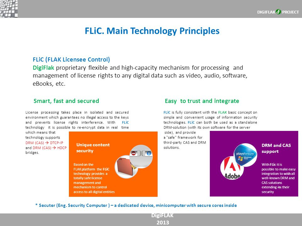 FLiC. Main Technology Principles