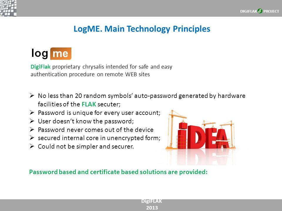 LogME. Main Technology Principles