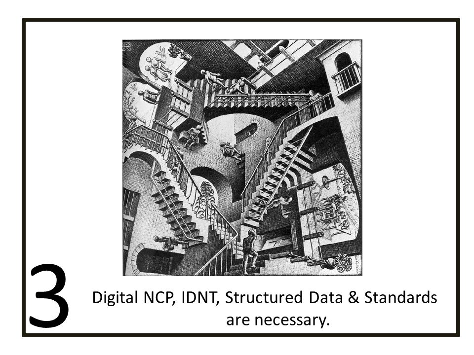 Digital NCP, IDNT, Structured Data & Standards are necessary.