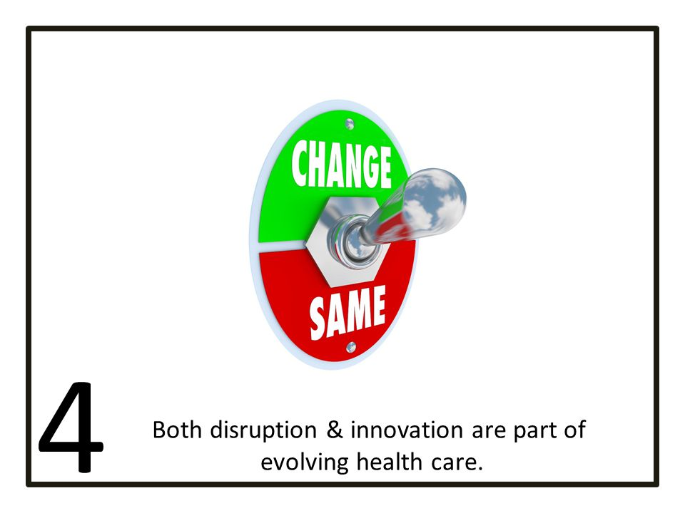 Both disruption & innovation are part of
