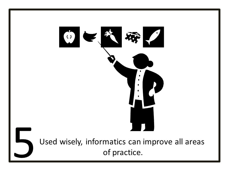 Used wisely, informatics can improve all areas