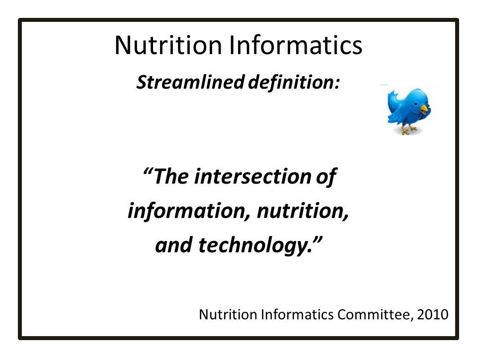 Nutrition Informatics