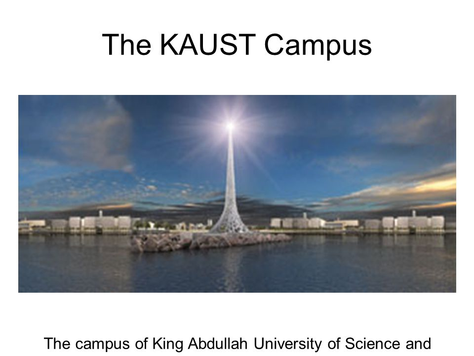 The campus of King Abdullah University of Science and Technology.