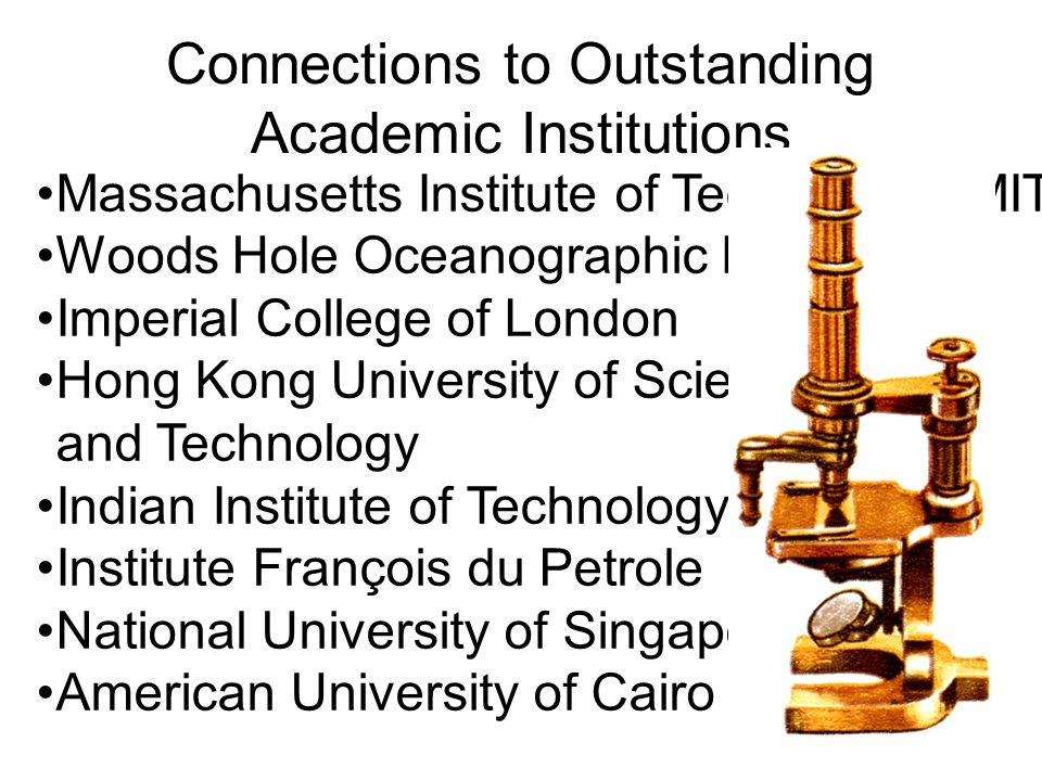 Connections to Outstanding Academic Institutions