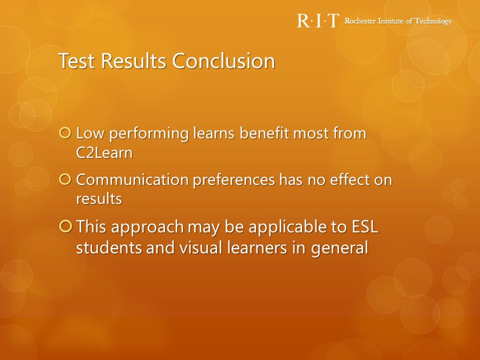 Test Results Conclusion
