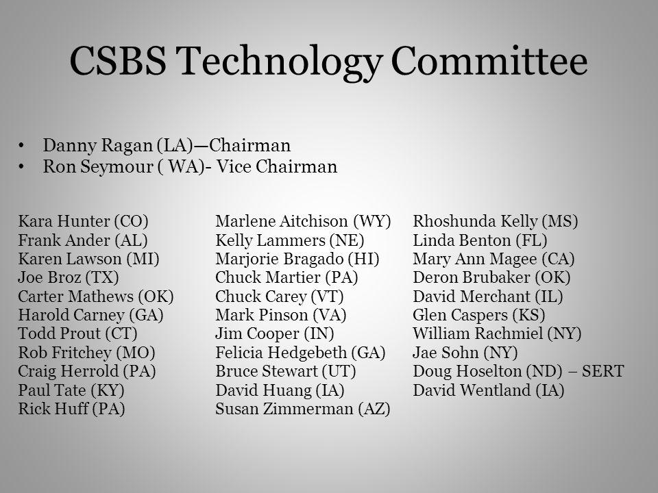 CSBS Technology Committee
