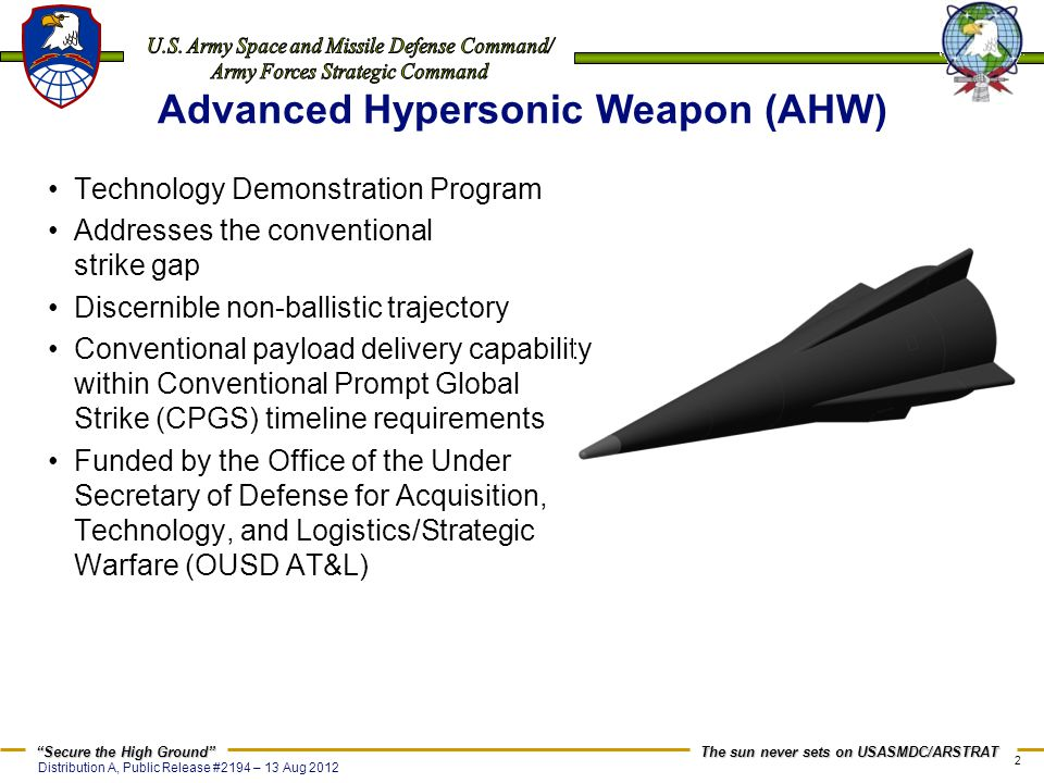Advanced Hypersonic Weapon (AHW)