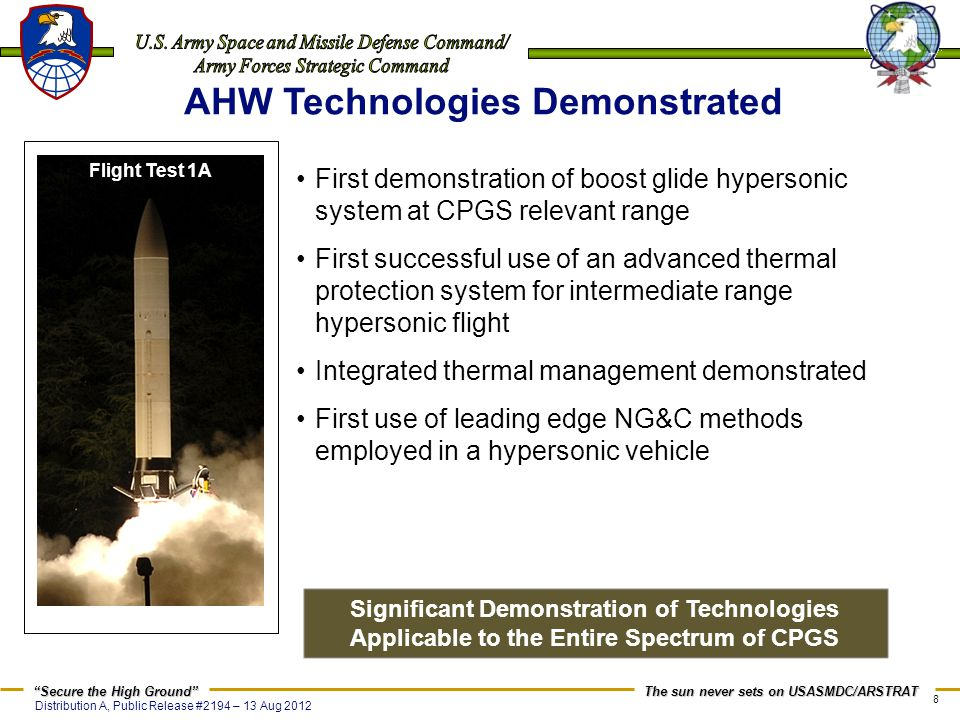 AHW Technologies Demonstrated