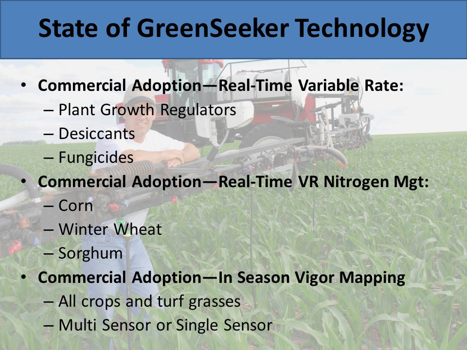 State of GreenSeeker Technology