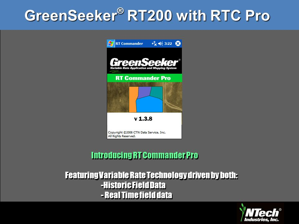 GreenSeeker® RT200 with RTC Pro