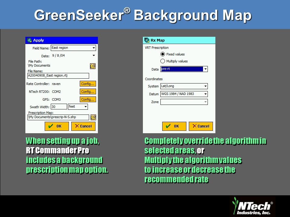 GreenSeeker® Background Map