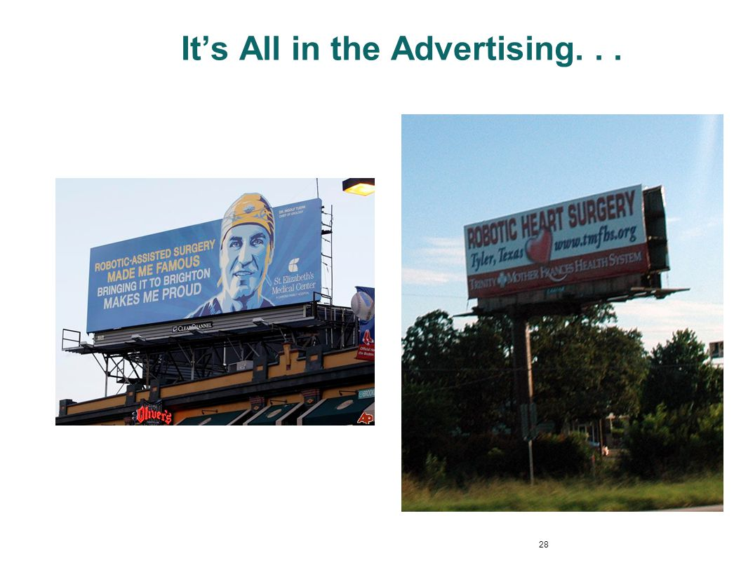 It's All in the Advertising. . .
