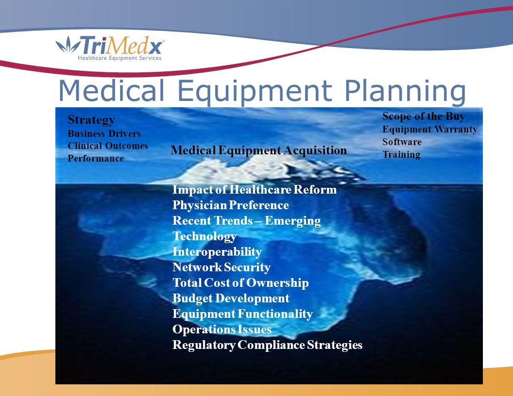 Medical Equipment Planning