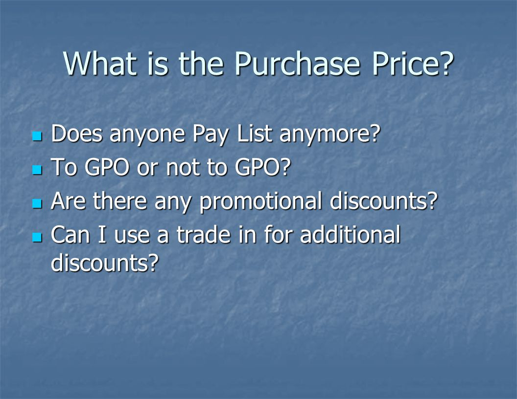 What is the Purchase Price