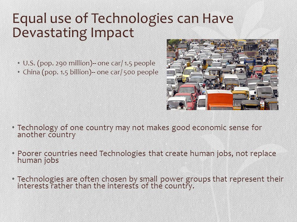 Equal use of Technologies can Have Devastating Impact