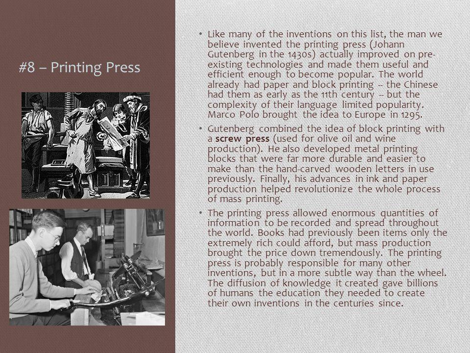 #8 – Printing Press