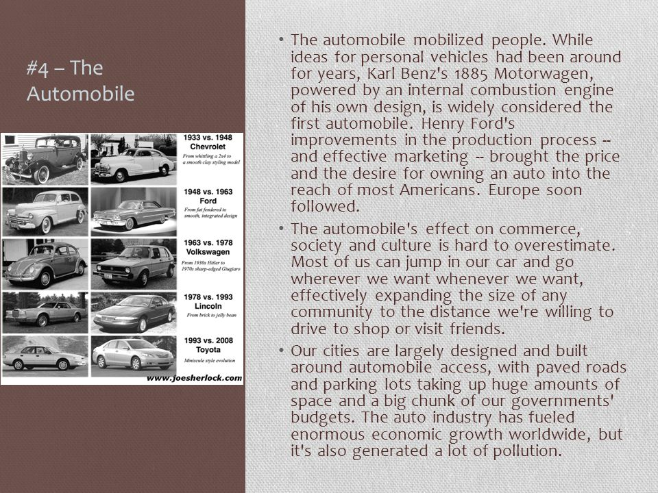 #4 – The Automobile