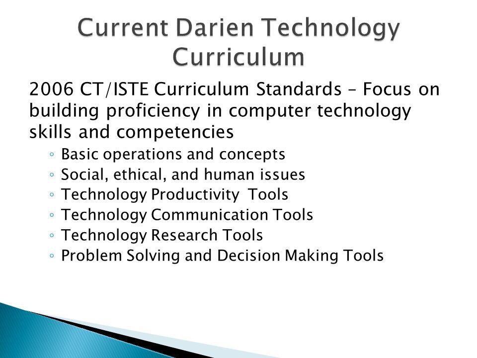 Current Darien Technology Curriculum
