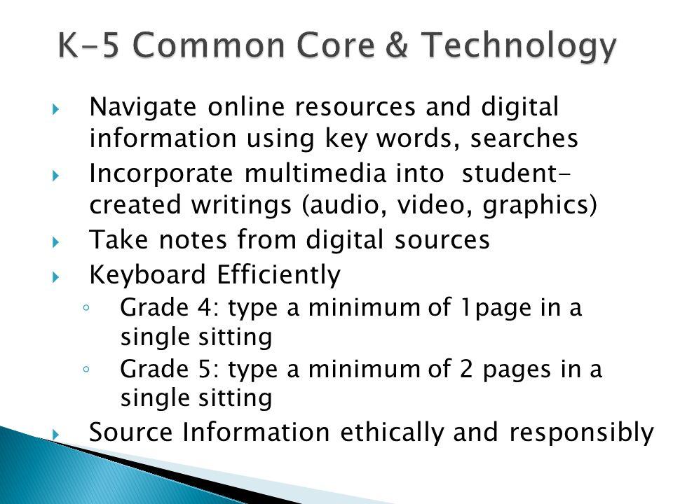 K-5 Common Core & Technology